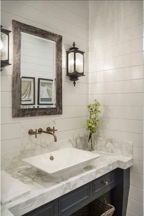 Bathroom inspiration shiplap walls