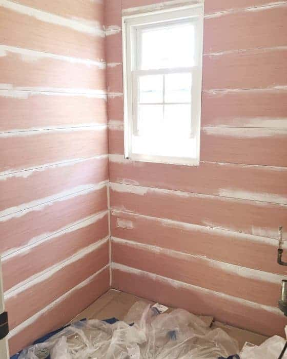 After the plywood shiplap was installed
