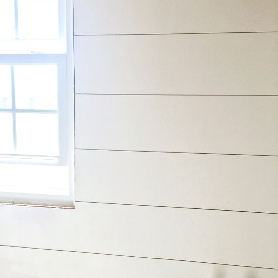 Paint shiplap from plywood in bathroom