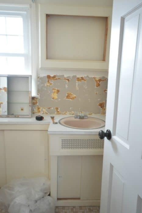 One Room Challenge Week 2 - Demo & Cement Tile Floors