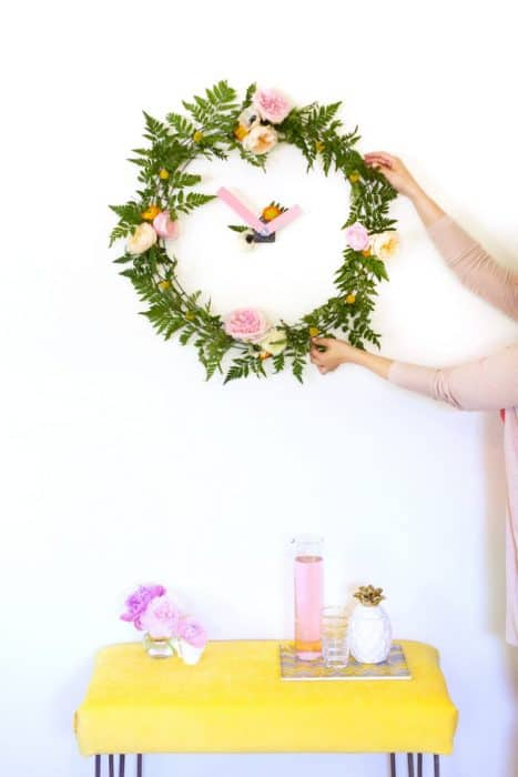Floral Wall Clock