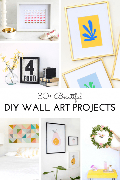 30+ Beautiful DIY Wall Art Projects