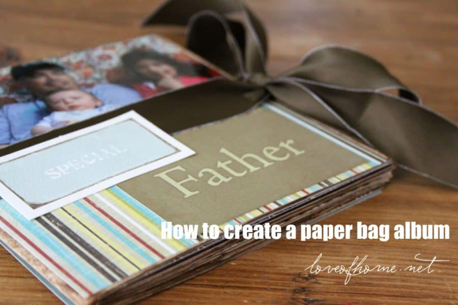 Make a thoughtful photo album from recycled paper bags for a sentimental DIY father's day gift