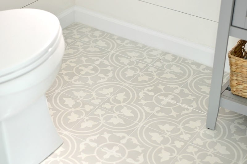 I want this tile! What an stunning powder room transformation!