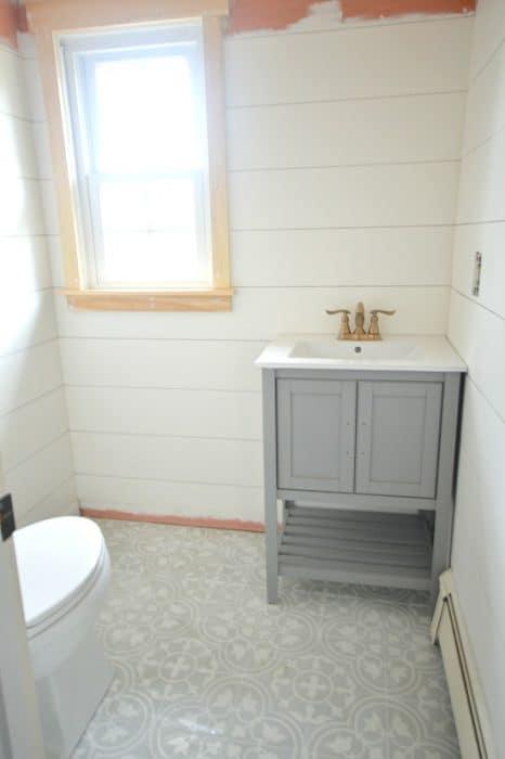 Powder Room Remodel - DIY Craftsman Window Casing