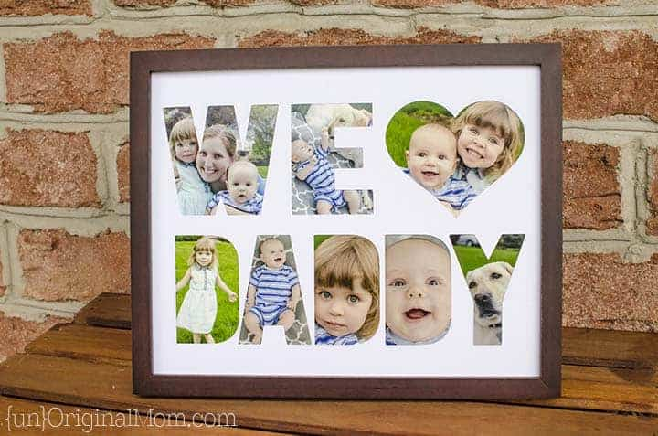 """This adorable """"we love daddy"""" picture frame is an easy DIY father's day gift"""
