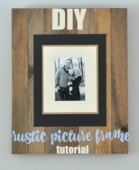 DIY Rustic picture frame: a simple tutorial to make these beautful rustic picture frames