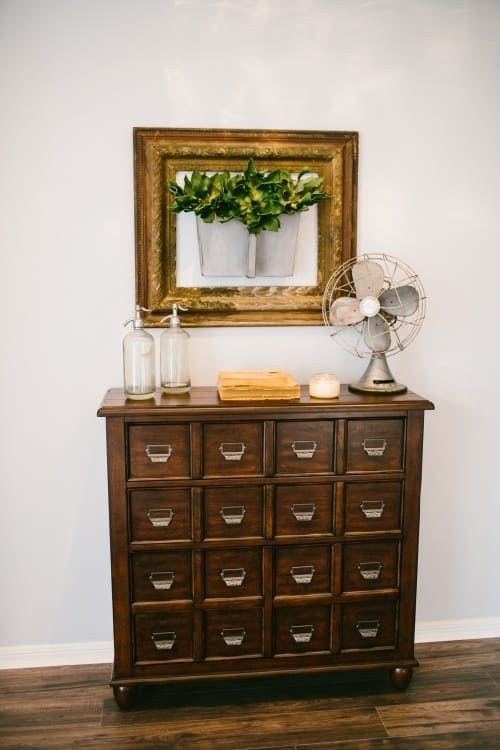 Fixer Upper farmhouse style printer's cabinet