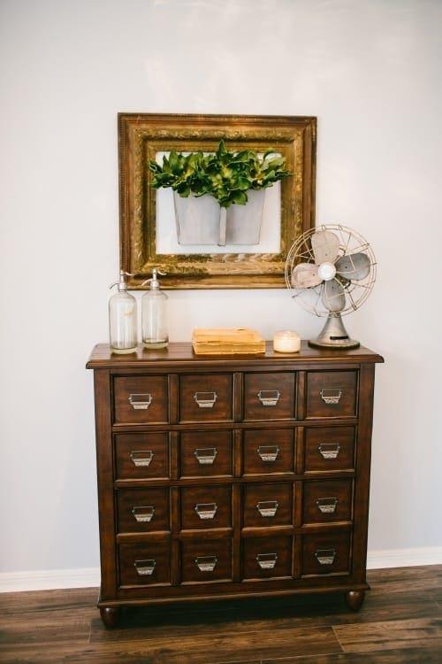 Fixer Upper farmhouse style printer's cabinet
