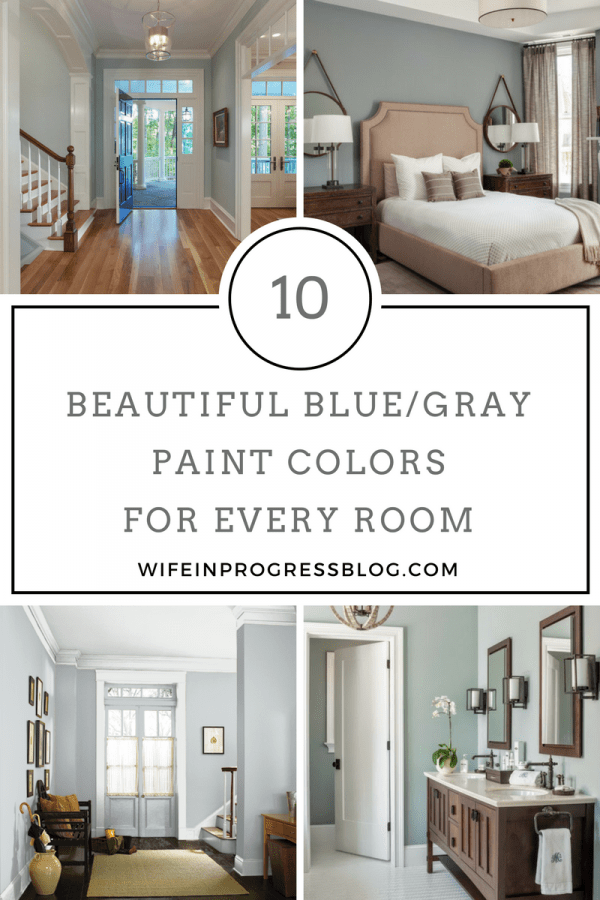 Beautiful blue-gray paint colors for every room in your home