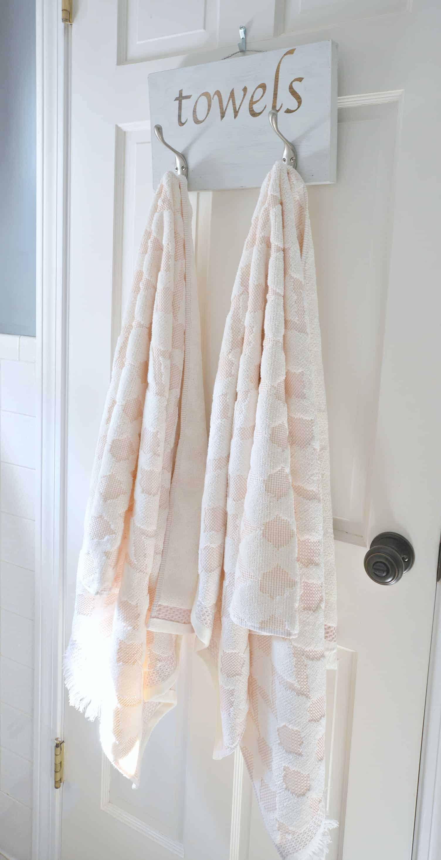 DIY Bathroom Towel Hook Rack - Wife in Progress