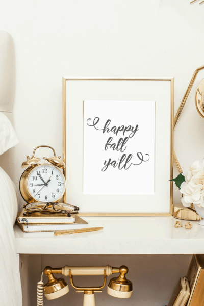 Happy Fall Ya'll Printable