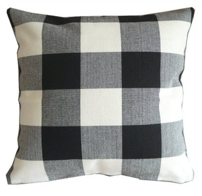 fall buffalo check pillow cheap