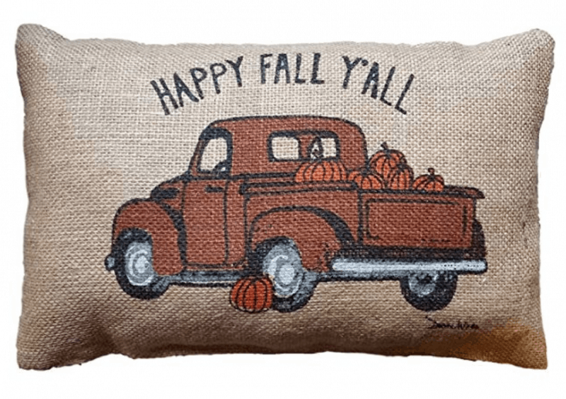 Happy Fall Ya'll Throw Pillow
