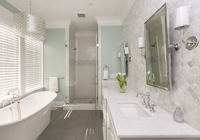 The best bathroom paint colors - Rainwashed