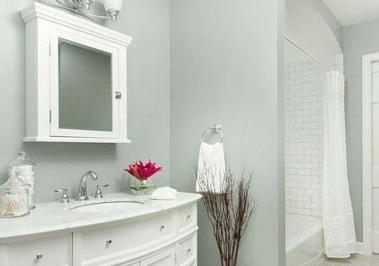 The best bathroom paint colors - Boothbay Gray