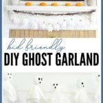 kid friendly easy ghost garland for halloween