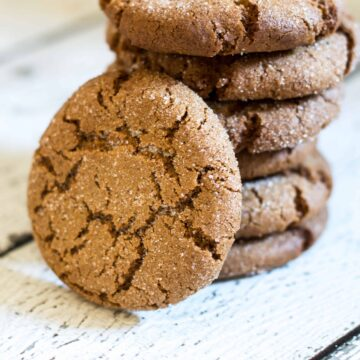 A close up of a stack of cookies