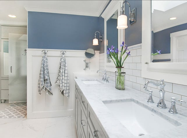 The best bathroom paint colors - Storm Cloud