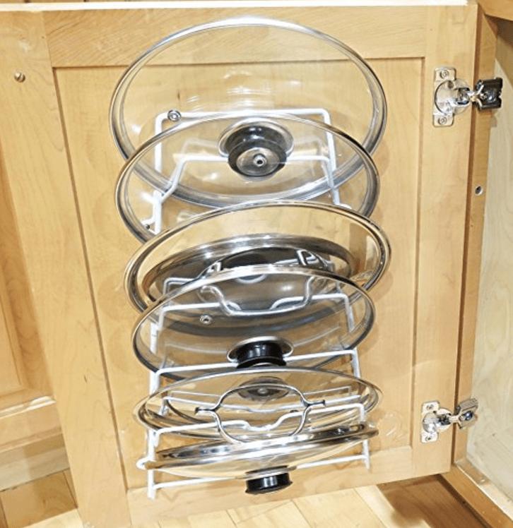 The Best Kitchen Organization Ideas -pot lid holder