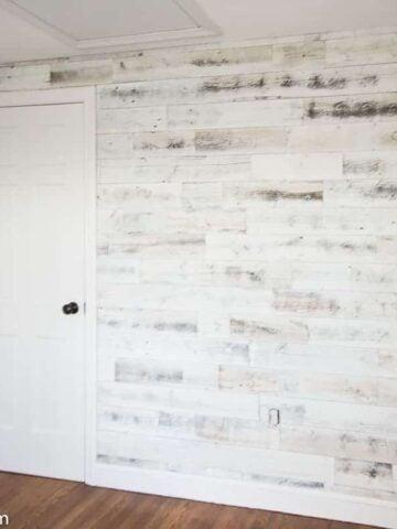 Stikwood reclaimed wood wall in nursery