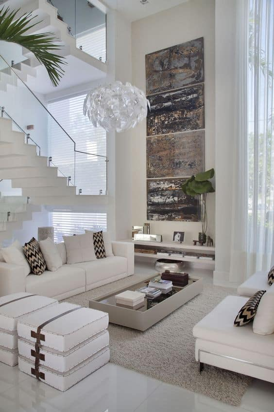 How to hang artwork when you have tall ceilings