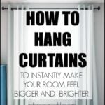 How to Hang Curtains | Drapery | Correct Height Width For Curtains