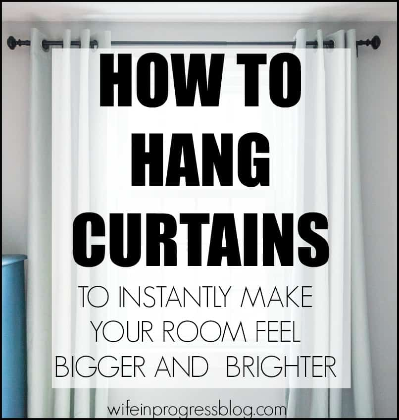 How to correctly hang curtains | make room feel bigger | curtain height | how to hang draper