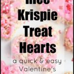 Rice Krispie Treat Hearts: A fun valentine's treat that is quick and easy to make!