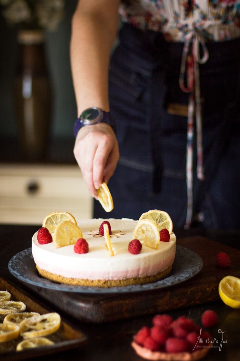 No Bake Cheesecake Recipe: Easter Lemon Raspberry Rare Cheesecake