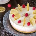 Rustic Easter Lemon Raspberry Rare Cheesecake by All that's Jas
