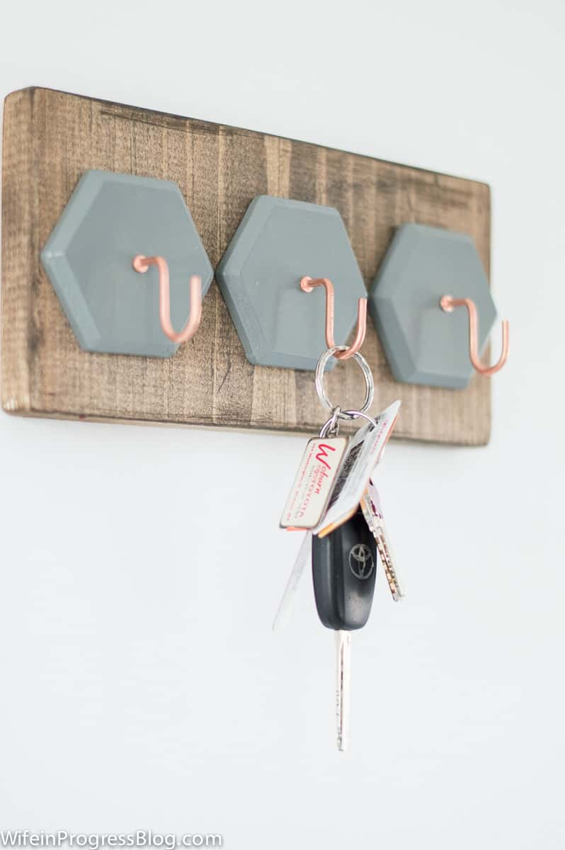 DIY key holder   a quick project to restore your sanity!
