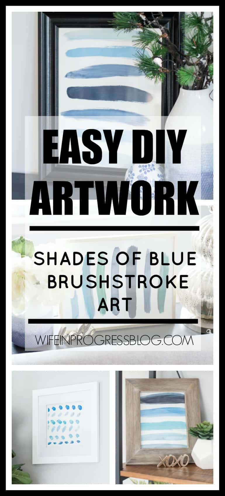 DIY Wall Art , DIY Artwork , Blue Art Ideas