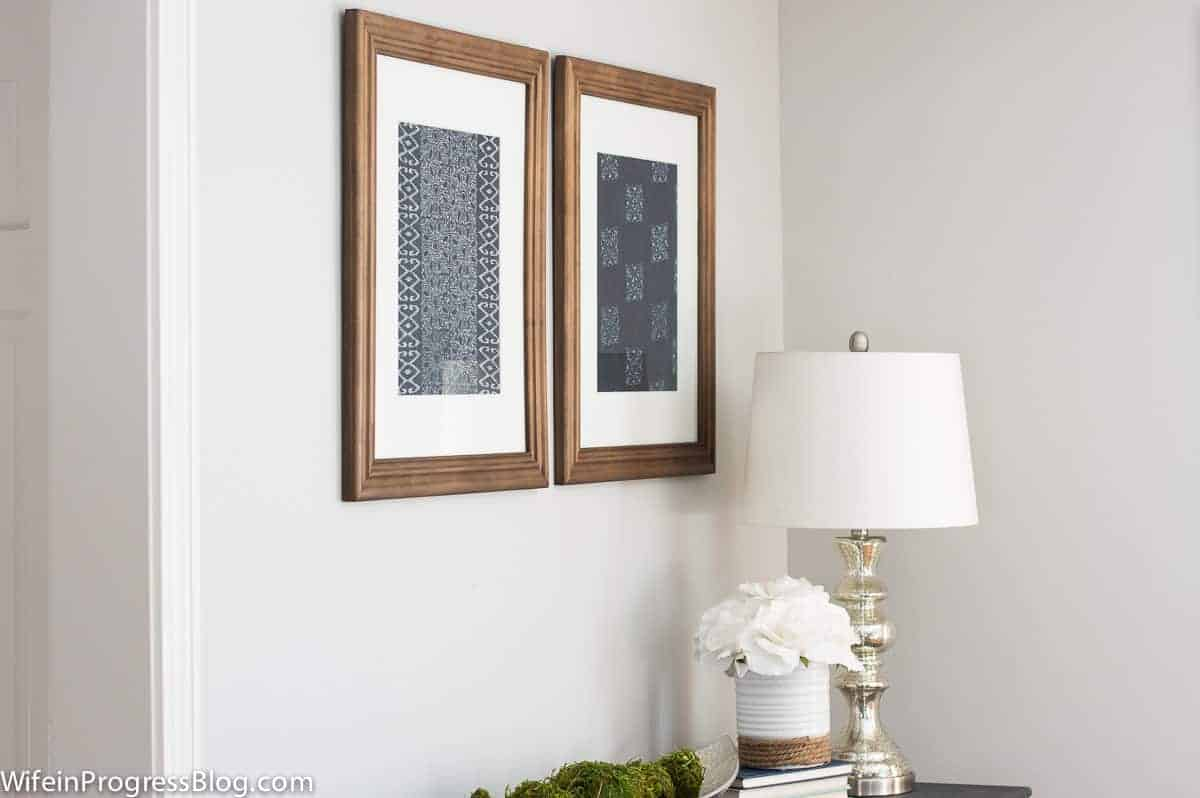 Pottery Barn Inspired Textile Art - Jenna Kate at Home