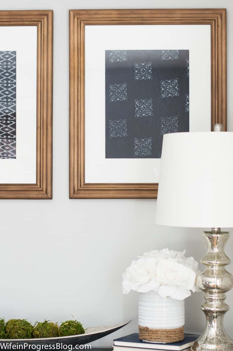 Framed sibori dyed fabric