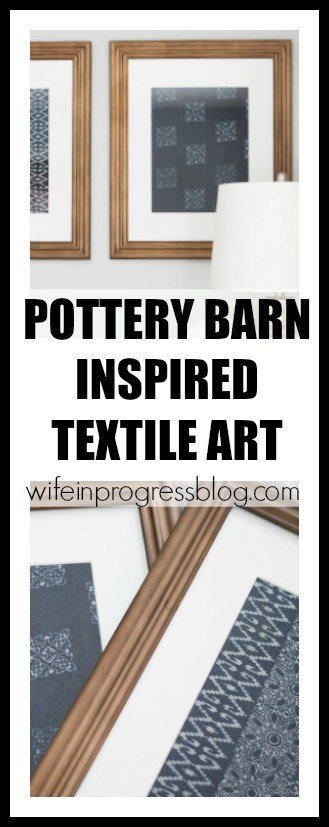 Don't spend hundreds of $$ on textile art that is basically just dyed fabric that has been framed! Make your own for less than $30 a piece!