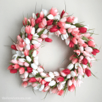 Spring wreath ideas: DIY Tulip Wreath