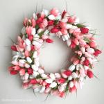 Spring wreath ideas: DIY Tulip Wreath