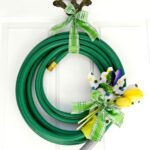 DIY Spring Garden Hose Wreath