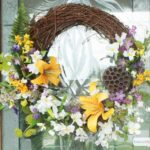 DIY Spring Flowers Wreath