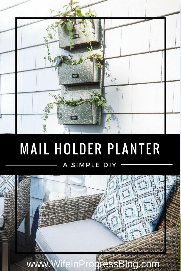 Unique planter ideas | galvanized mail holder | farmhouse planter | farmhouse decor