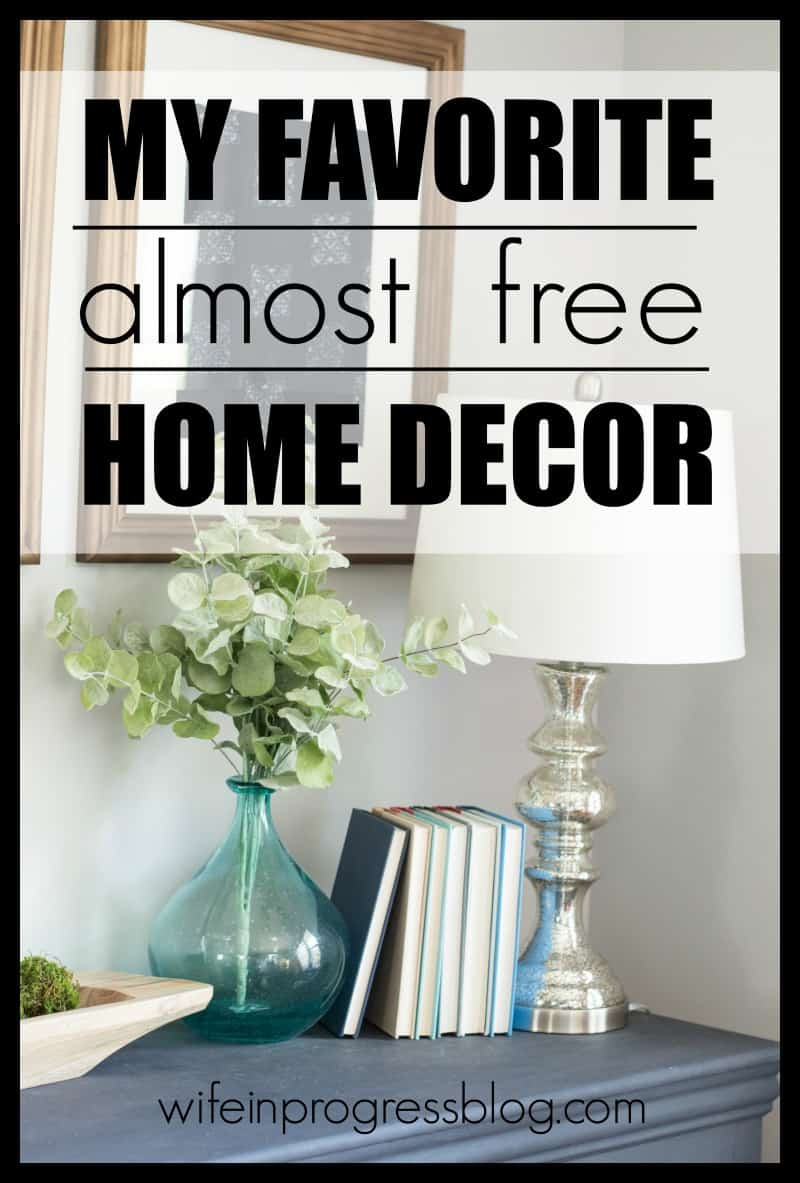 How to decorate your home with an item that you already own! Free home decor at its finest!