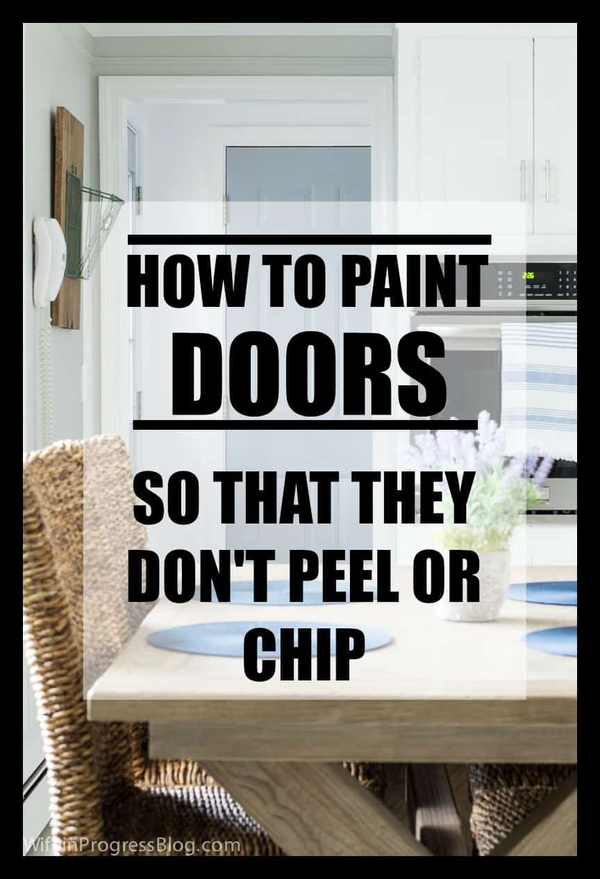Paint a door so that it won't chip or peel | interior, exterior doors & cabinets | paint doors without sanding or priming