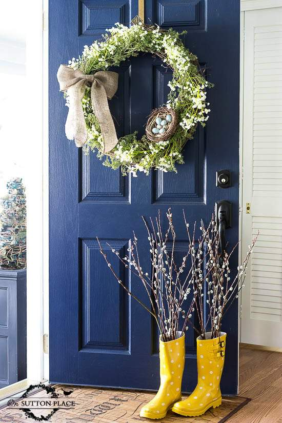 The perfect navy blue paint color for a front door