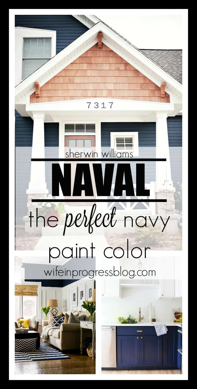 best navy blue paint colorPaint Colors Naval by Sherwin Williams  Wife in Progress