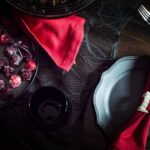 An Elegant Gothic Halloween Party Table Setting