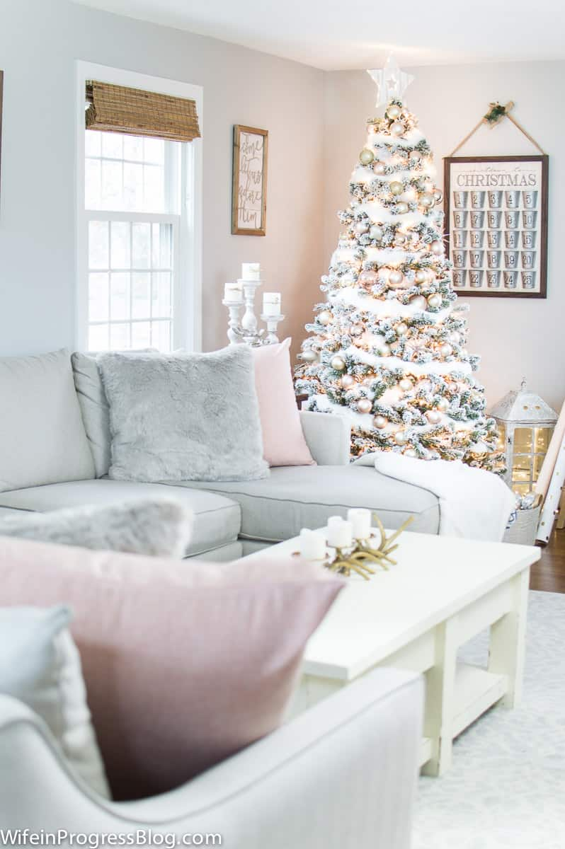 Rose Gold And Blush Pink Christmas Tree Unique Christmas Decor Ideas