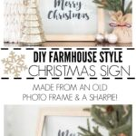 DIY farmhouse style christmas sign