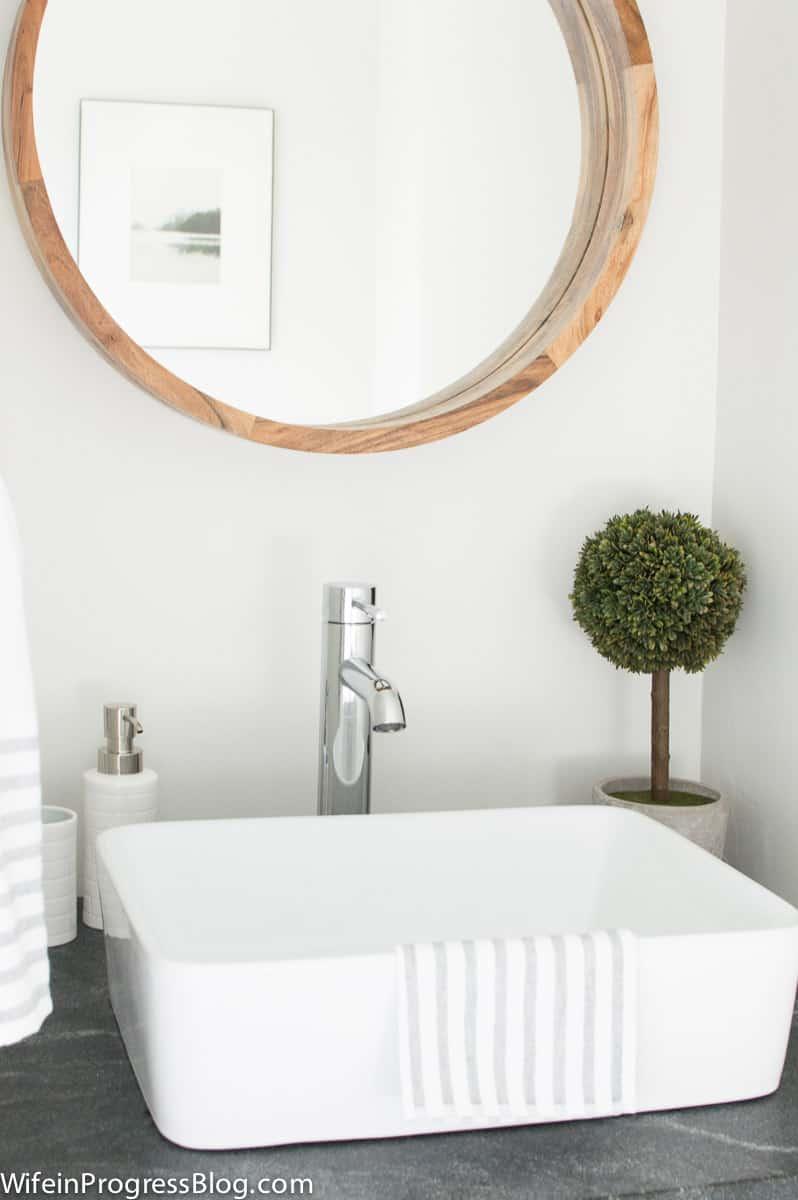 Modern farmhouse bathroom subwaytile reclaimed wood vanity 22 wife modern farmhouse bathroom subwaytile reclaimed wood vanity 22 dailygadgetfo Images