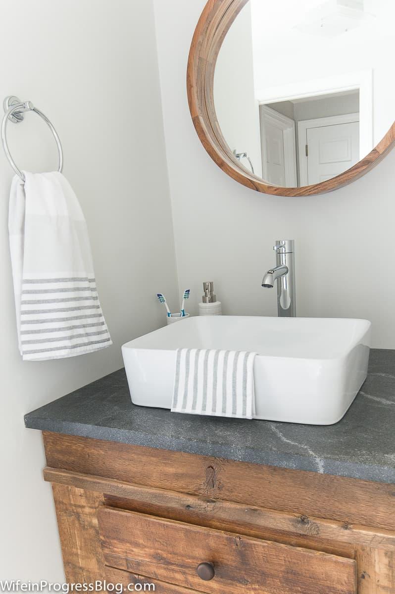 Modern Vintage Bathroom Pink Bathroom Remodel 4